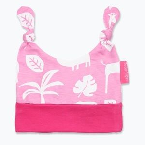 Organic Cotton Pink Jungle Knot Hat 3-6 months